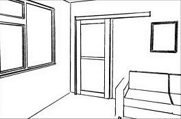 Установка раздвижной двери (вдоль стены)
